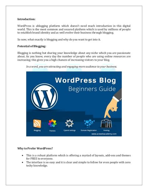 blogger guide pdf how to build a wordpress blog step by step guide for