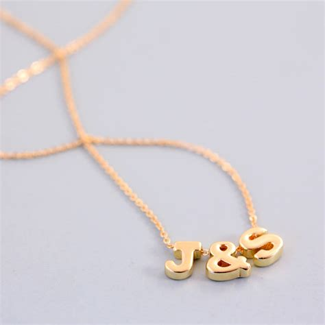 Letter Necklace Mini Letter Necklace By J S Jewellery Notonthehighstreet