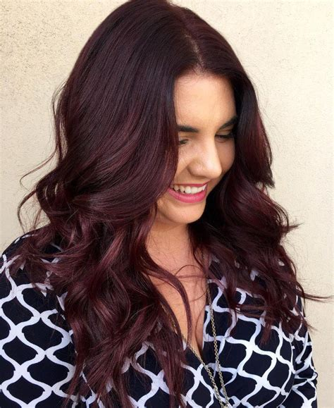 red brunette hair color over 50 50 striking dark red hair color ideas bright yet elegant