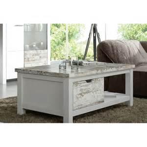 table basse bois blanc vieilli table de lit