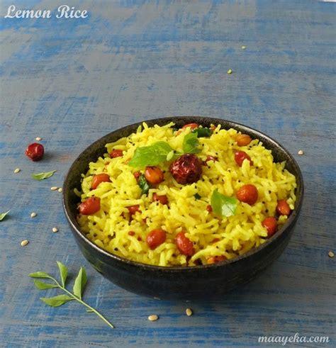How To Make Lemon Rice » Maayeka Lemon Rice Recipe South Indian Style