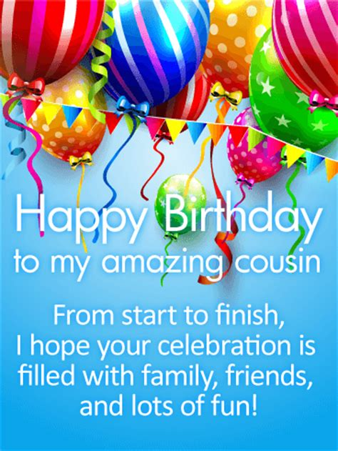 Birthday Cards For Cousins Free Birthday Wish Cards Birthday Greeting Cards By Davia