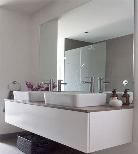 frameless mirrors for bathrooms bathroom mirrors design and ideas inspirationseek
