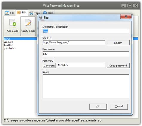 best freeware password manager wise password manager free freeware screenshot free