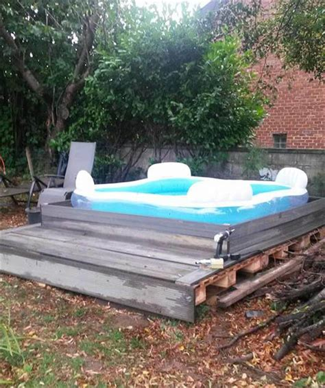 how to build a backyard pool diy pallet outdoor platform pool