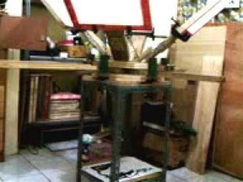 Meja Sablon Rotary Kayu meja rotary kayu 4screen 4meja