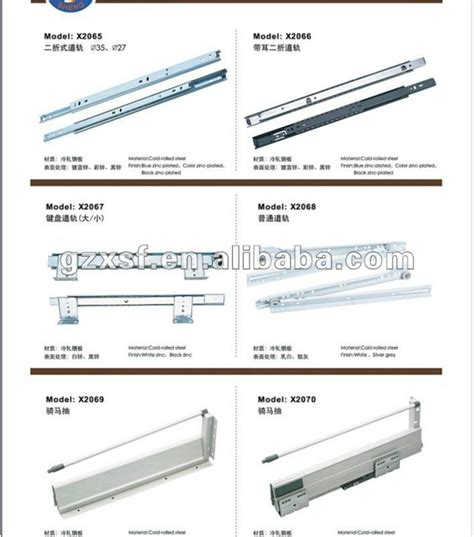 Different Types Of Drawer Slides by Furniture Hardware Type And Sliding Door Fittings Bottom