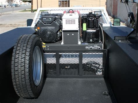 truck bed air compressor air n arc douglass truck bodies