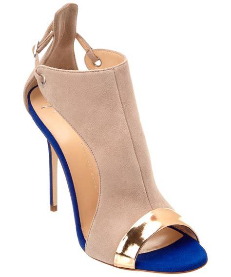 suede heeled sandals giuseppe zanotti giuseppe zanotti bicolor suede heeled