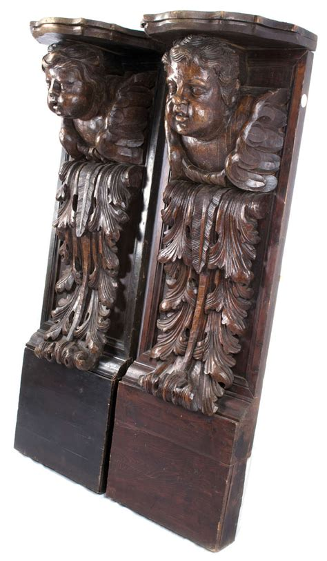 Corbels For Sale Pair Of Monumental Carved Putti Corbels For Sale At 1stdibs