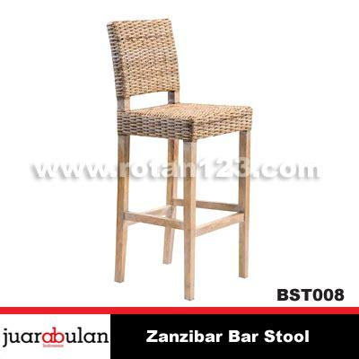 Kursi Bar Stool harga jual zanzibar bar stool kursi bar rotan alami