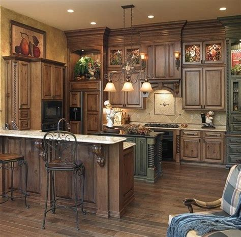 dream kitchen cabinets dark glazed cabinets dream home pinterest