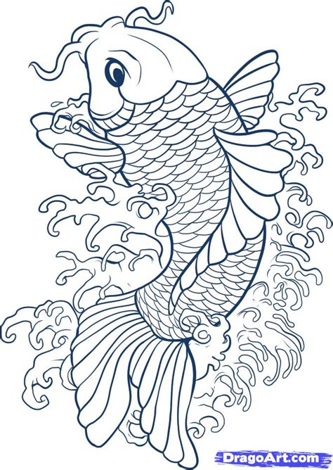 koi fish realistic coloring pages drawings grig3 org