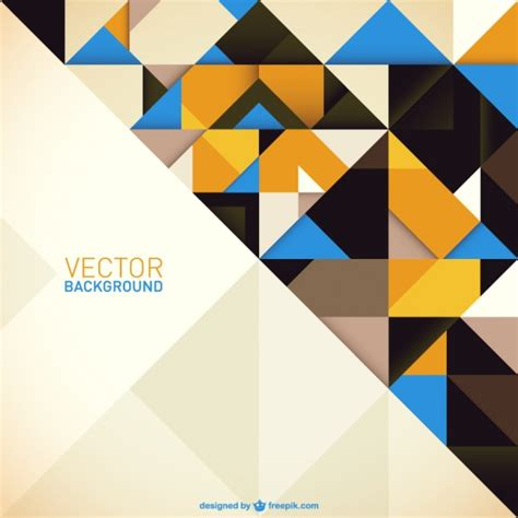 yellow geometric background design vector from free vector geometric background with yellow and blue triangles vector