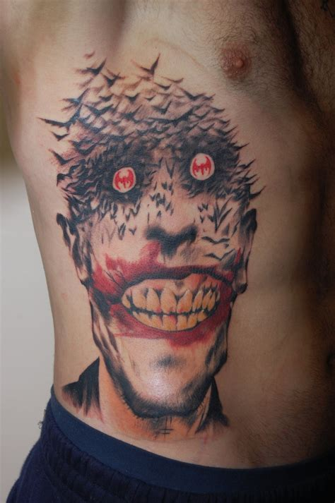 jokers tattoo 35 amazing comic book tattoos