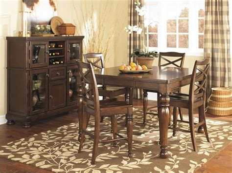 porter dining room set porter counter height dining set by ashley furniture