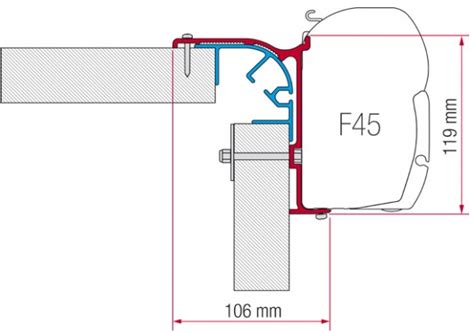 Fiamma Awning F45 Accessories by Fiamma F45 Awning Adapter Kit Bailey Mk 1 Awning