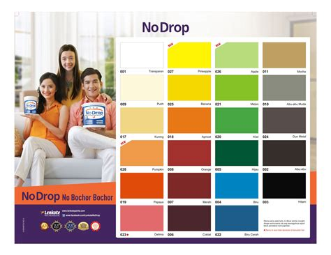katalog warna cat no drop cat pelapis anti bocor tips avian brands kartu warna