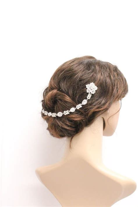 how to wrap wedding hair bridal hair chain wedding hair wrap grecian headpiece