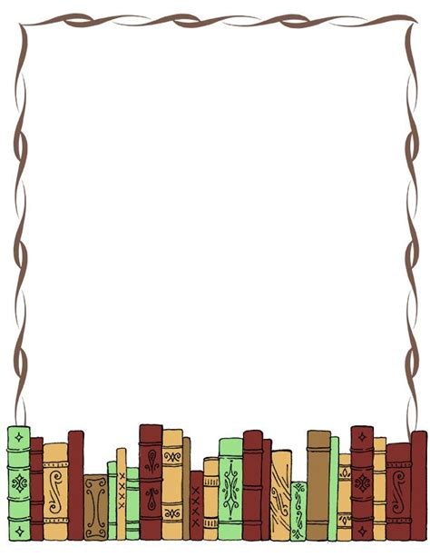 for school library books template bobook clipart frame pencil and in color bobook clipart