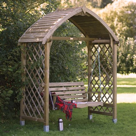barmouth timber swing arbour departments diy  bq
