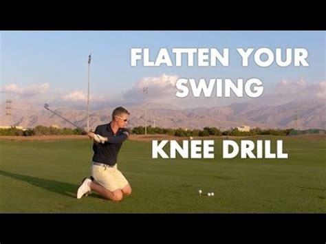 flatten golf swing golf drill flatten your swing plane youtube