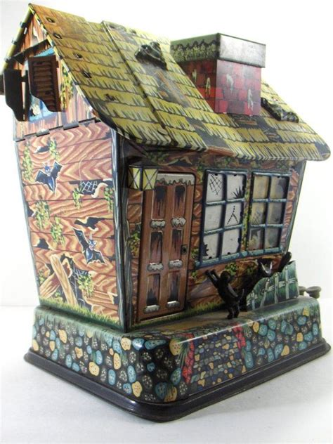 haunted house toy vintage marx hootin hollow haunted house battery operated tin toy 196