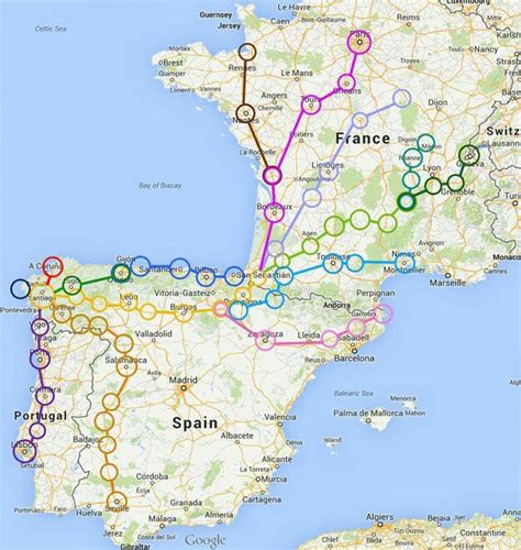 camino de santiago route map whelantrek converting dreams to reality one hike at a time
