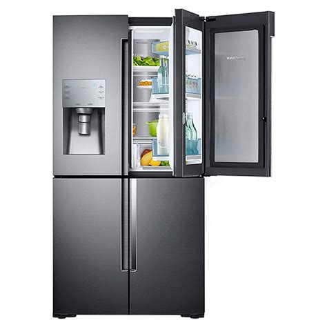 rf28k9380sg samsung 36 quot 4 door door refrigerator showcase door black stainless