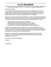 case manager cover letter examples social services