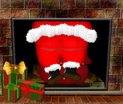 Santa Fireplace Picture by Stuck Santa