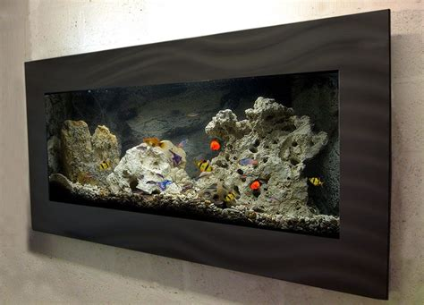 wall mounted fish tank roselawnlutheran large black wall mounted aquarium glass fish tank f1l b