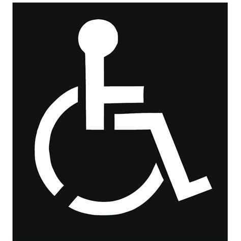 handicap template 100 handicap symbol clip black and white