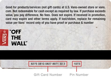 Vans Gift Card Number - vans check gift card balance