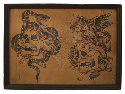 tattoo flash vintage quot cap quot coleman tattoo 15 quot x11 quot reproductio of vintage cap
