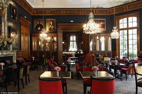 saint james paris hotel features leopard print walls and