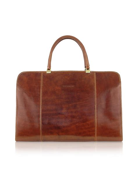 Italian Handmade Bags - chiarugi handmade brown genuine italian leather business