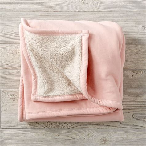 kids pink sherpa sweatshirt blanket  land  nod