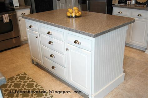 kitchen island from cabinets on the v side diy kitchen island update