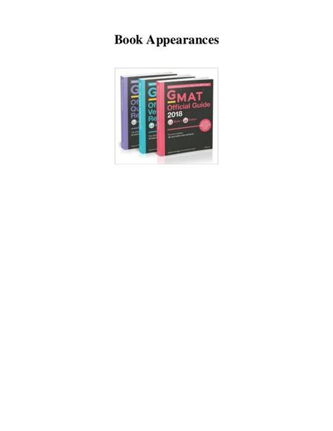 Gmat Official Guide 2018 Bundle Book pdf gmat official guide 2018 bundle books epub