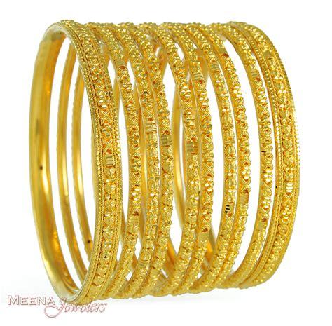 Handmade Gold Bangles - 22kt gold handmade bangles bast3344 22 kt gold
