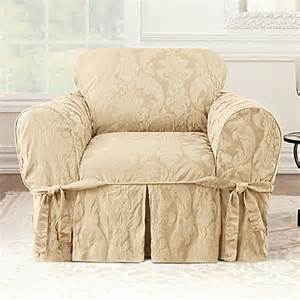 where to buy sure fit slipcovers buy sure fit 174 matelasse damask one chair slipcover