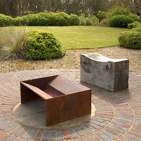 Chunk Welded Steel Fire Pit By Magma Firepits Metal Firepit