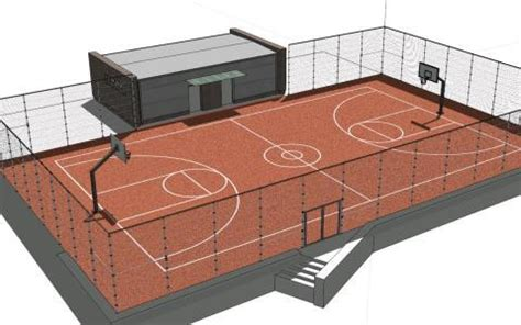 basketball court  skp model  sketchup designs cad