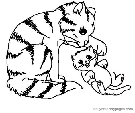 animal coloring pages kitten cat color pages printable cute cat coloring pages 003