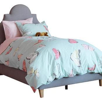 pink  purple butterfly print bedding