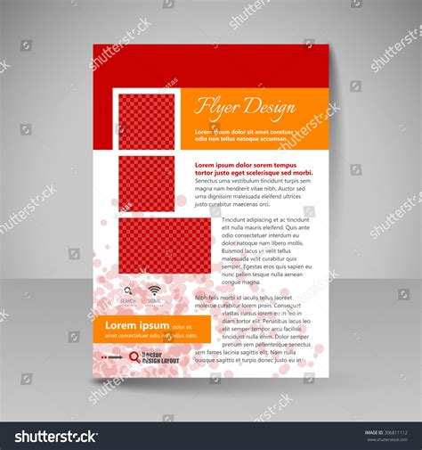 flyer design editable flyer design editable template site business stock vector