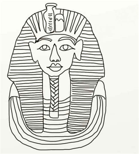 King Tut Mask Template by King Tut Coloring Pages Coloring Home