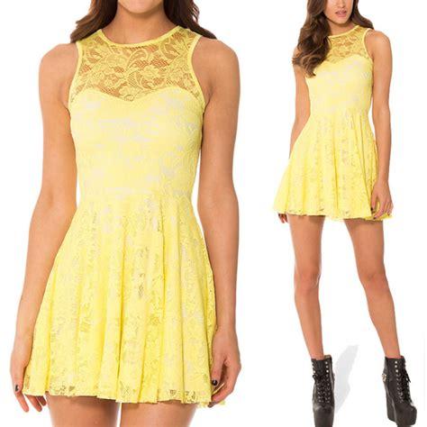 Fashion Xl Wanita Sweet Black Tops X20358 buy yellow skater dress dress edin