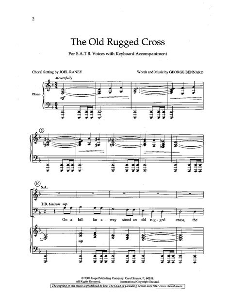 the rugged cross made the difference sheet rugged cross satb by bennard g ran j w pepper sheet